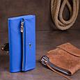 Клатч конверт с карманом для мобильного кожаный женский ST Leather 19268 Синий, фото 6