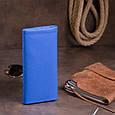 Клатч конверт с карманом для мобильного кожаный женский ST Leather 19268 Синий, фото 7