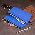 Клатч конверт с карманом для мобильного кожаный женский ST Leather 19268 Синий, фото 8