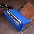 Клатч конверт с карманом для мобильного кожаный женский ST Leather 19268 Синий, фото 9