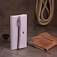 Клатч конверт с карманом для мобильного кожаный женский ST Leather 19269 Лиловый, фото 5