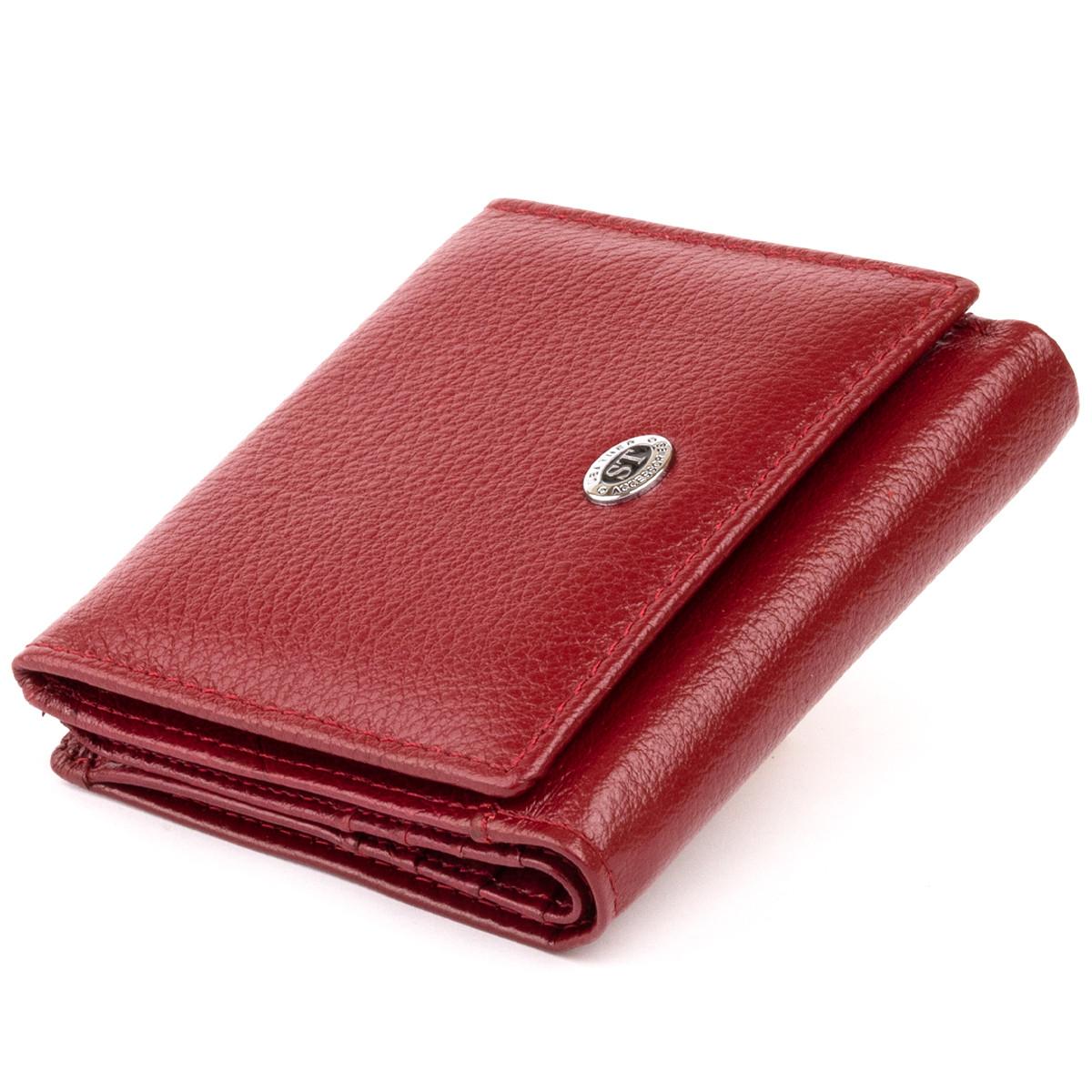 Компактний гаманець жіночий ST Leather 19257 Бордовий