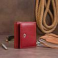 Компактний гаманець жіночий ST Leather 19257 Бордовий, фото 7