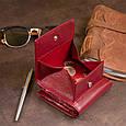 Компактний гаманець жіночий ST Leather 19257 Бордовий, фото 9