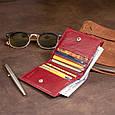 Компактний гаманець жіночий ST Leather 19257 Бордовий, фото 10