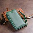 Кошелек из кожи на защелке ST Leather 19342 Зеленый, фото 10