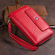 Гаманець зі шкіри на засувці ST Leather 19343 Червоний, фото 9