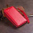 Гаманець зі шкіри на засувці ST Leather 19343 Червоний, фото 10