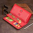 Гаманець шкіряний в два складання жіночий ST Leather 19287 Червоний, фото 9