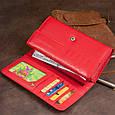 Гаманець шкіряний в два складання жіночий ST Leather 19287 Червоний, фото 10
