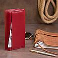 Кошелек кожаный в два сложения женский ST Leather 19288 Бордовый, фото 7