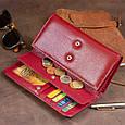 Кошелек кожаный в два сложения женский ST Leather 19288 Бордовый, фото 8