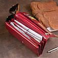Кошелек кожаный в два сложения женский ST Leather 19288 Бордовый, фото 10