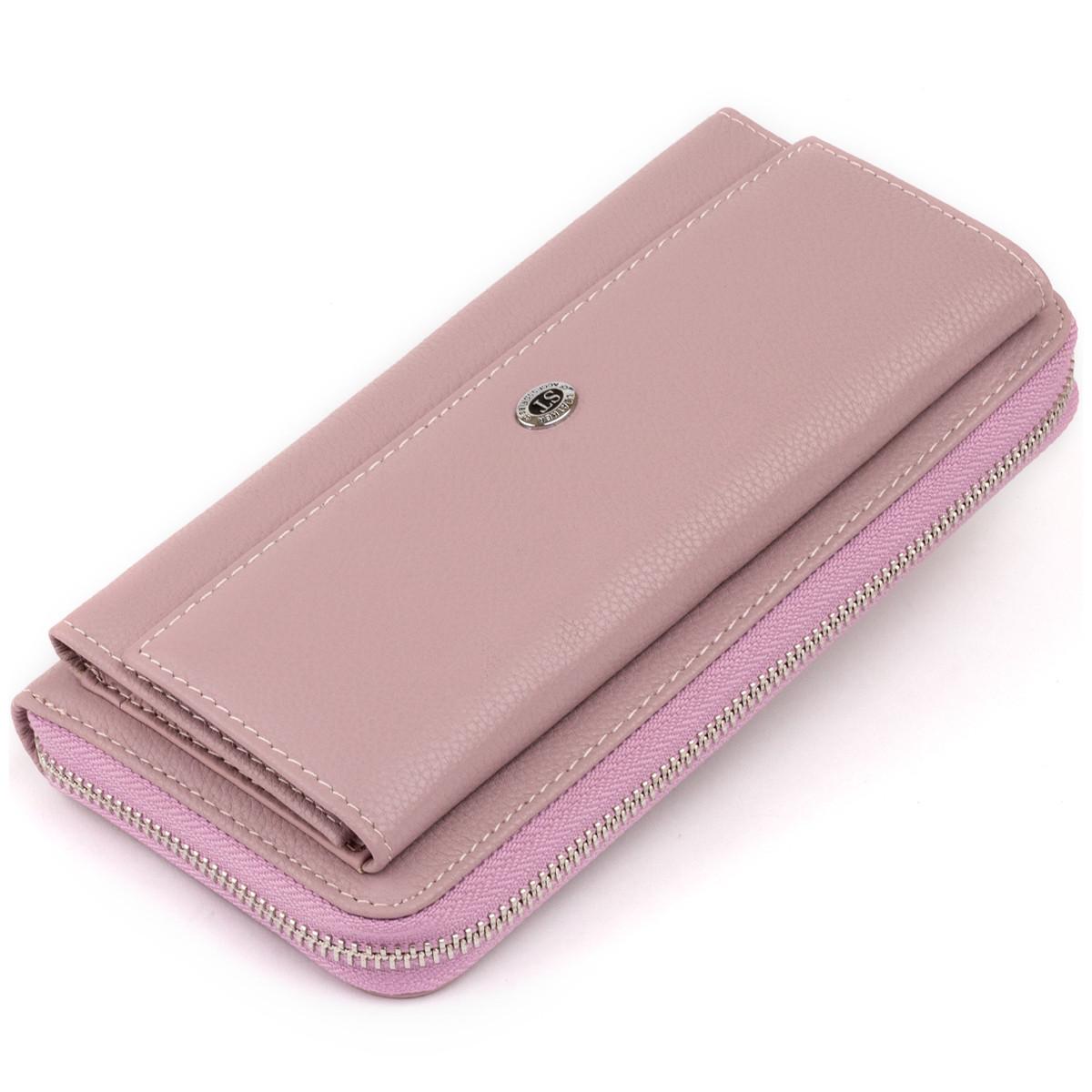 Шкіряний жіночий гаманець ST Leather 19295 Ліловий