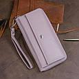 Шкіряний жіночий гаманець ST Leather 19295 Ліловий, фото 9