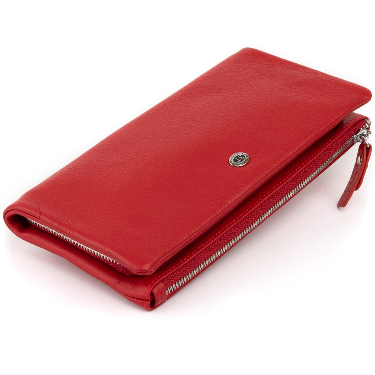 Гаманець-клатч зі шкіри з кишенею для мобільного ST Leather 19315 Червоний