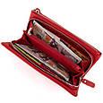 Гаманець-клатч зі шкіри з кишенею для мобільного ST Leather 19315 Червоний, фото 3