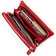 Гаманець-клатч зі шкіри з кишенею для мобільного ST Leather 19315 Червоний, фото 5