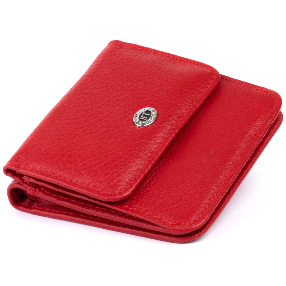 Маленький гаманець на кнопці жіночий ST Leather 19239 Червоний