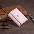 Маленькое портмоне из кожи женское ST Leather 19357 Розовое, фото 6