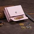 Маленькое портмоне из кожи женское ST Leather 19357 Розовое, фото 8