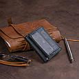 Маленьке портмоне зі шкіри унісекс ST Leather 19356 Чорне, фото 8