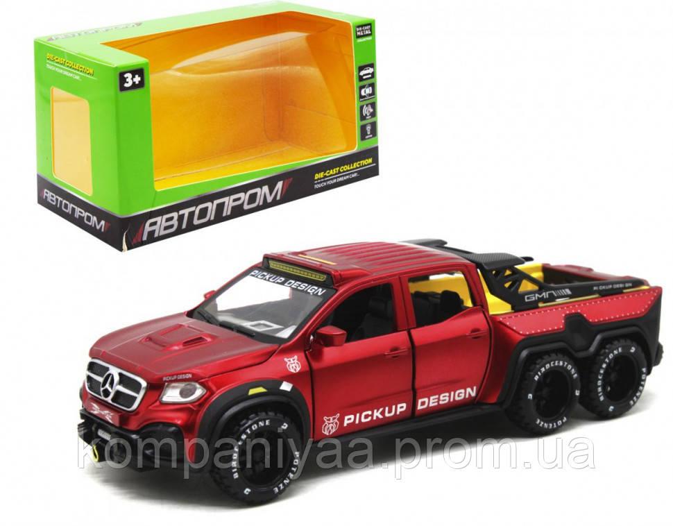 """Машина металева """"АВТОПРОМ"""" 7584 Mercedes (Red)"""