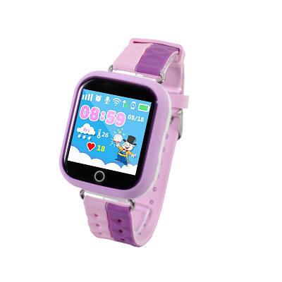 Смарт-часы детские UWatch Q100S Pink с GPS трекером (2965-8037)