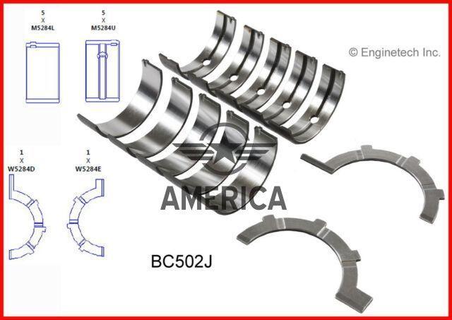 Втулки корінні 0,75 мм 4,7 L ENGINETECH BC502J75