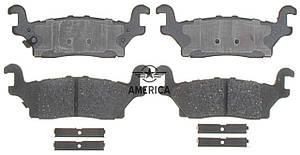 Колодки тормозные задние ACDELCO 17D1120CH HUMMER H3 HUMMER H3 ALPHA HUMMER H3 X