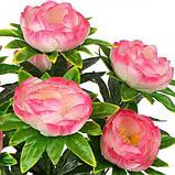 Искусственные цветы букет пион атлас, 54см, фото 2