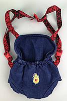 Кенгуру-слинг джинсовый для куклы baby Born 40 - 44 см