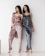 Женский комплект (халат, топ,  штаны)  Nicoletta