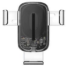 Автотримач з БЗУ Baseus Explore Gravity Car Mount 15W Прозорий