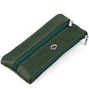 Ключниця-гаманець з кишенькою унісекс ST Leather 19348 Зелена