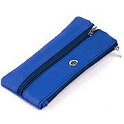 Ключниця-гаманець з кишенькою унісекс ST Leather 19351 Синя