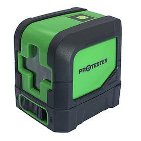 Лазерний рівень, 2 лінії, 1H/1V (зелений промінь) PROTESTER LL102G
