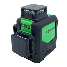 Лазерний рівень, 3x360° (H360/2xV360, зелений промінь) PROTESTER LL412G