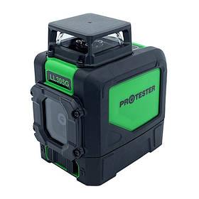 Лазерний рівень, H360°/1V, (зелений промінь) PROTESTER LL305G