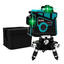 Профессиональный лазерный уровень нивелир 12 линий 3x360град АКБ Hilda 3D