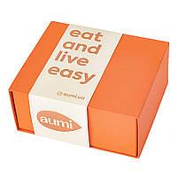 Подарочный набор AUMI VIP-6 в VIP коробке, 6 х 120г фисташковая, миндальная, фундук, кешью, тахини, Espressо, фото 3