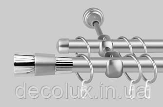 Карниз для штор металевий, дворядний 19 мм Валео Сатин