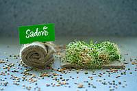 Комплект льняных ковриков Микрозелень для проращивания проростков, микрогрина, микрозелени  4 шт., фото 1