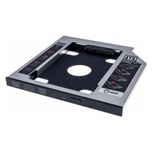 Адаптер Grand-X HDD 2.5 у відділ приводу ноутбука SATA/SATA3 Slim 9,5 mm (HDC-24C)