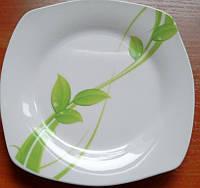 Блюдо квадратное 26*26 Зеленая лиана 11мл ZLJMW001