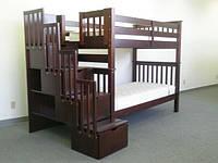 """Двухъярусная кровать с лестницей-комодом """"Питер"""", фото 1"""