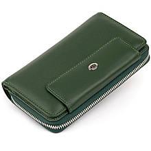 Кошелек из кожи на защелке ST Leather 19342 Зеленый