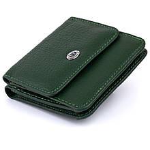 Маленький кошелек на кнопке женский ST Leather 19233 Зеленый