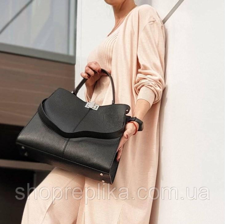 Стильна жіноча ділова сумка Італія Натуральна шкіра містка Велика жіноча шкіряна сумка df265fв