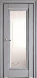 Двері Престиж Р2 скло сатин і молдингом Сіра Пастель, 700